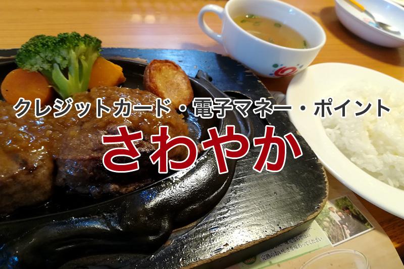 炭焼きレストランさわやか クレジットカード 電子マネー ポイント
